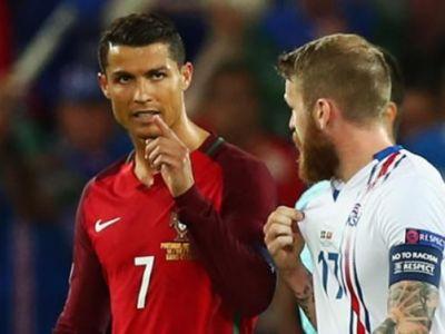 """""""Dar tu cine esti?"""" Bild a apelat la un cititor pe buze pentru a afla ce aroganta le-a facut Ronaldo islandezilor!"""