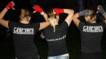 """Imagini si dezvaluiri incredibile in perioada in care huliganii rusi au facut prapad la EURO. O """"brigada"""" de femei la fel de violente se antreneaza pentru Mondialul din 2018"""