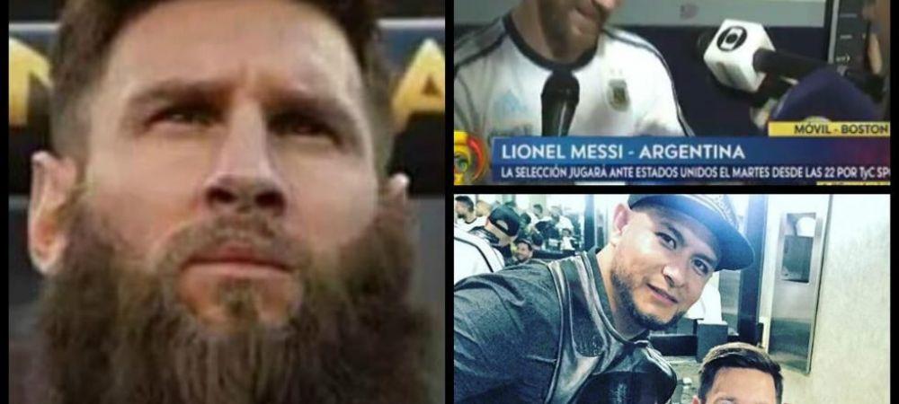 """FOTO Pariul nebun al lui Messi """"BARBA ROSIE"""": nu se mai rade pana la Cupa Mondiala din Rusia! Ce l-a impins sa ia aceasta decizie"""