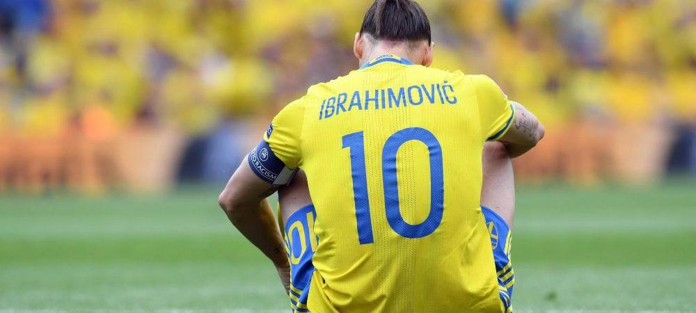 Ibrahimovic, invins la ultimul meci in tricoul nationalei Suediei. Vezi in LIVE BLOG toate amanuntele de la EURO si optimile de finala