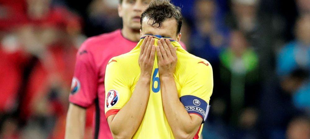 """Chiriches: """"N-am dat gol, dar am controlat jocul cu Albania!"""" Vlad Capitan a vorbit prima oara dupa ce s-a ascuns cu banderola in vestiar la finalul meciului"""