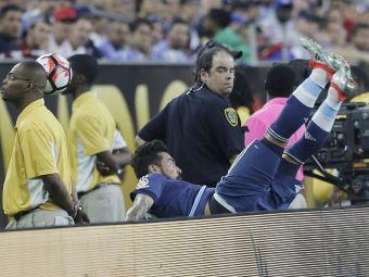 FOTO SOCANT! Lavezzi e out de la Copa America dupa ce si-a rupt cotul dupa un accident oribil!