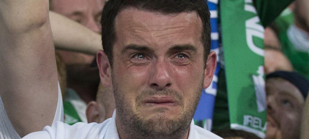 """Daca Will Grigg e IN FLACARI, el e IN LACRIMI :)) Cel mai emotionat suporter de la Euro. A inceput sa planga """"in hohote"""""""