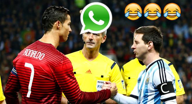 Discutie fabuloasa Messi - Ronaldo pe Whatsapp de ziua lui Messi :))