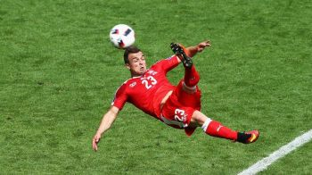 GOL ABSOLUL FABULOS Shaqiri: foarfeca de la 16 metri, Fabianski n-a putut sa faca NIMIC! Cel mai tare gol de pana acum la Euro