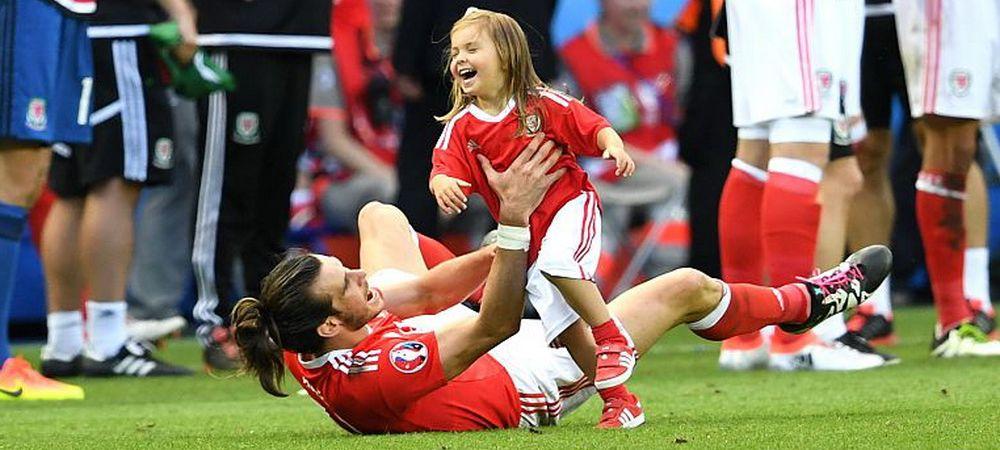 El este Gheata de Aur de la Euro in acest moment! GALERIE FOTO: Imagini fantastice cu fetita lui Bale, intrata pe teren sa se bucure pentru calificarea nationalei