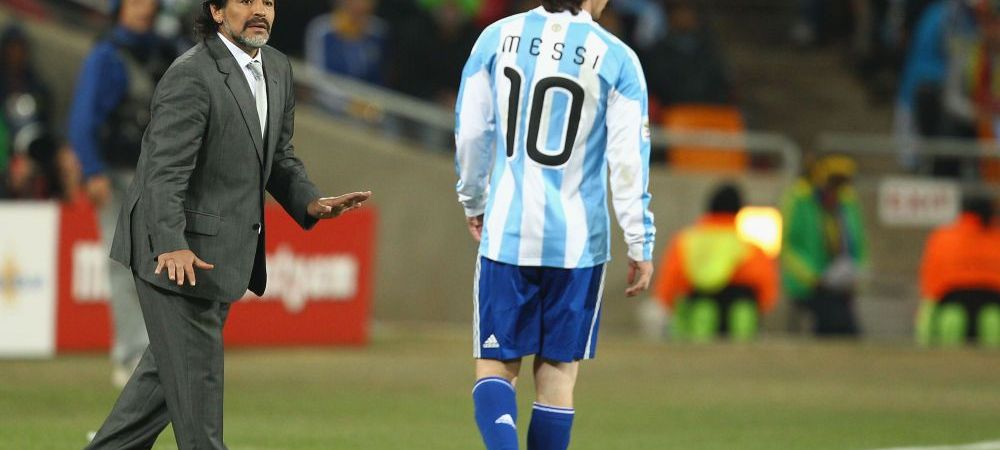 """Reactia lui Maradona dupa anuntul soc facut de Leo Messi: """"A fost ultimul meu meci la nationala"""". Ce i-a transmis El Pibe d'Oro starului Barcei"""