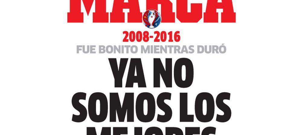 """""""Nu mai suntem cei mai buni! Suntem istorie!"""" Del Bosque, gata de plecare, Casillas, gata de retragere dupa eliminarea Spaniei"""