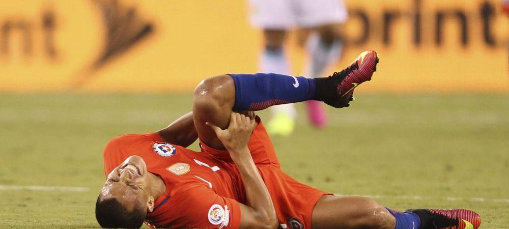 FOTO HORROR! Cum arata piciorul lui Alexis Sanchez dupa o intrare criminala la Copa America! Alerta la Arsenal dupa imaginea asta