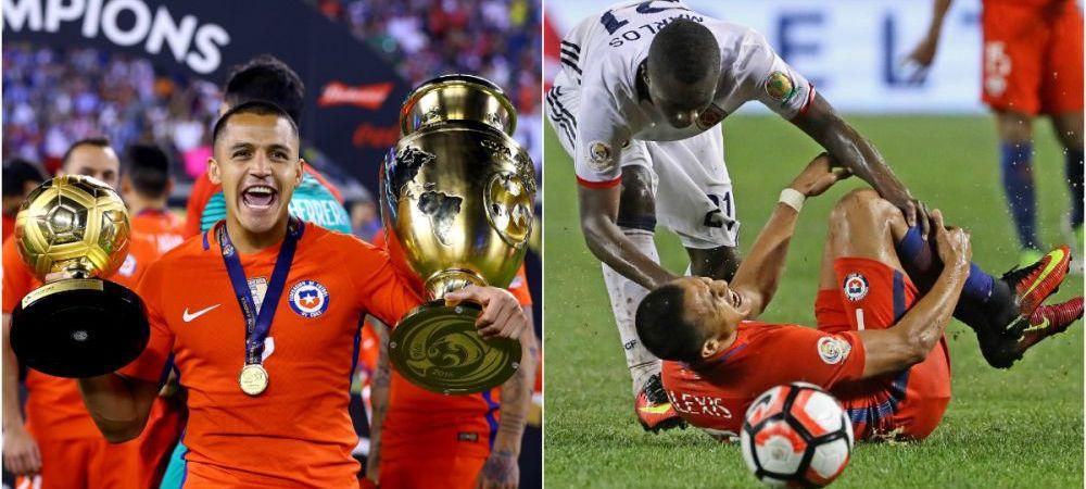 FOTO SOCANT | Pretul dur platit de Alexis Sanchez pentru trofeul Copei America. Cum arata piciorul jucatorului lui Arsenal, care s-a temut de o absenta indelungata