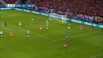 Ocazie imensa de gol a galezilor: Courtois are o interventie minunata la sutul lui Taylor din cativa metri. VIDEO