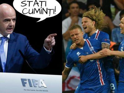 "Anuntul facut de UEFA cu cateva ore inainte de ultimul sfert de la Euro: ""Daca bate Islanda, se mai joaca o data"" :)"