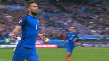 GOOOL Franta. Oliver Giroud deschide scorul in sfertul cu Islanda. VIDEO