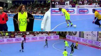 N-ai zice ca a fost fundas :) Puyol a facut spectacol la un meci de futsal jucat in Kuweit: gol superb cu calcaiul | VIDEO
