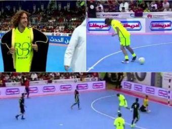 N-ai zice ca a fost fundas :) Puyol a facut spectacol la un meci de futsal jucat in Kuweit: gol superb cu calcaiul   VIDEO