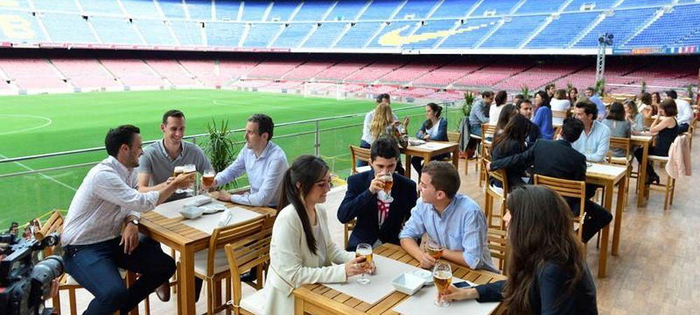 """""""The Balcony"""", ultima afacere a Barcelonei! Luna aceasta, suporterii ies la bere la iarba verde de pe Camp Nou FOTO"""