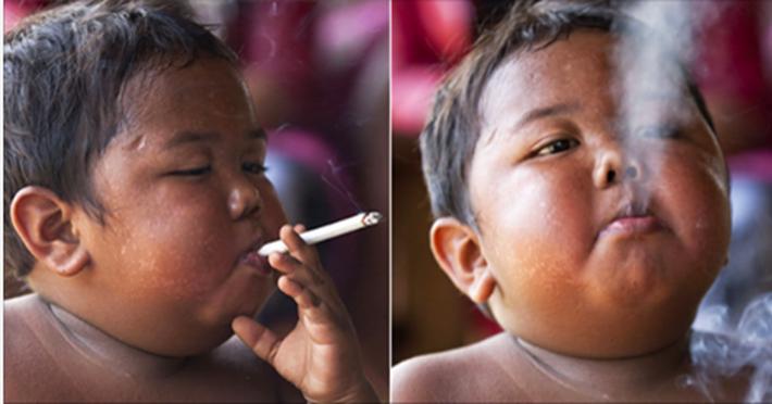 Transformarea uluitoare a copilului care fuma 40 de tigari pe zi! Cum a ajuns sa arate dupa 8 ani! FOTO