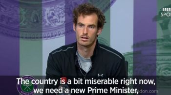 """""""Tara e in mizerie, avem nevoie de un premier, un selectioner, un prezentator Top Gear si Tara Galilor a pierdut! Tu esti ultima noastra speranta!"""" Reactia geniala a lui Andy Murray la conferinta"""