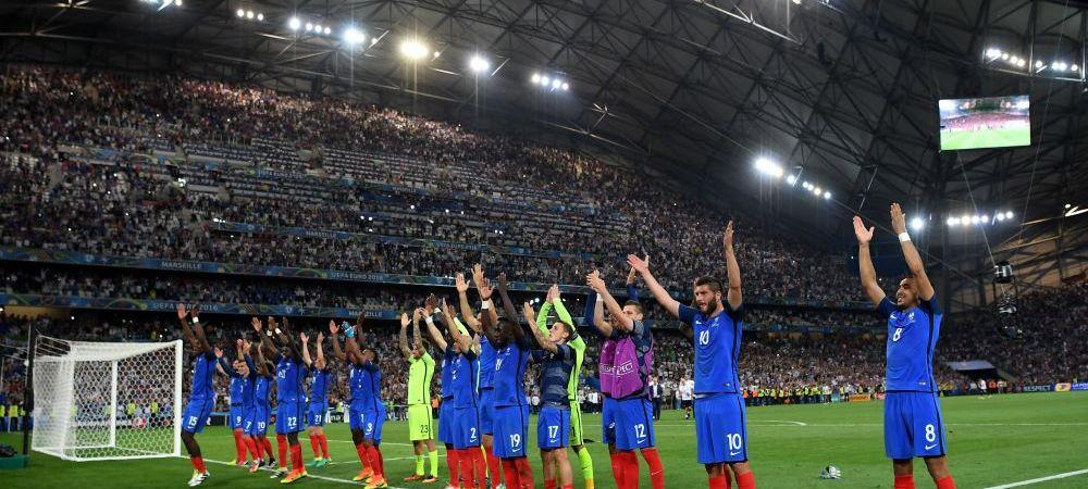 GALERIE FOTO   Momente senzationale: francezii s-au bucurat alaturi de suporteri cu faimosul strigat razboinic al islandezilor