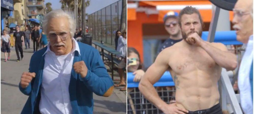 "Un musculos a vrut ""sa-i dea rusine"" unui bunic la un concurs de haltere, dar s-a facut de ras. Ce s-a intamplat :)"