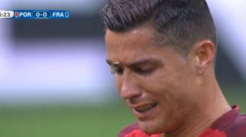CE DESTIN, CE DRAMA, CE POVESTE! Cristiano Ronaldo iese plangand de pe teren pentru a doua oara in cariera intr-o finala de campionat european! Momente sfasietoare cu Franta. VIDEO