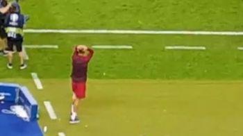 SUPER VIDEO! A inceput sa planga de FERICIRE! Cum a facut Cristiano Ronaldo pe banca la golul superb al lui Eder si cand FINALA s-a incheiat! A fost filmat din tribune