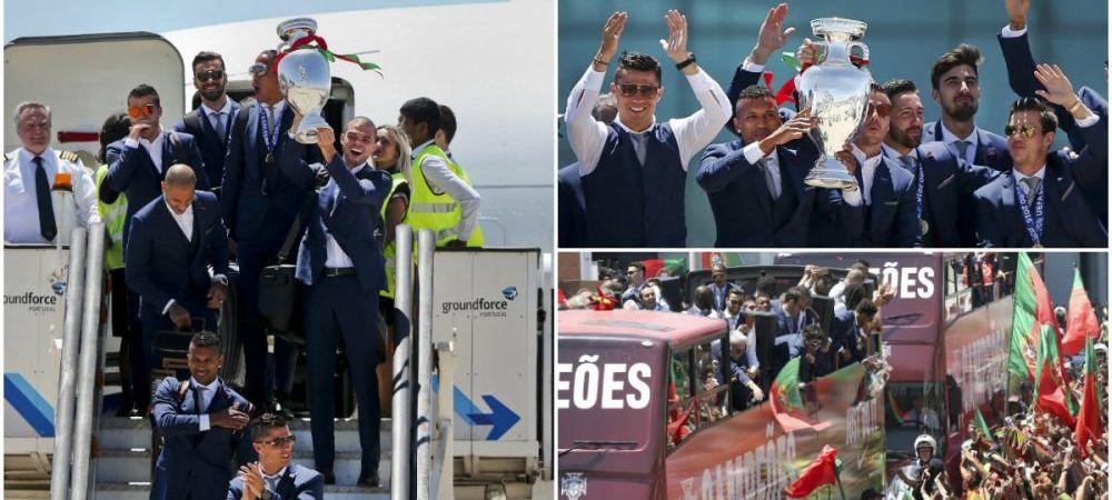 A venit Cupaaaaa | Cristiano Ronaldo & Co s-au intors acasa si vor defila cu trofeul prin capitala, pana la Palatul Prezidential. Mii de fani sunt asteptati pe traseu