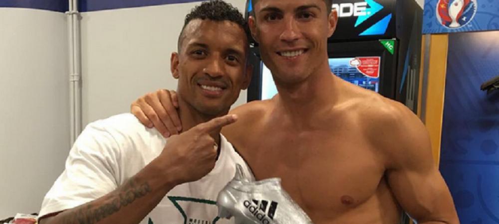 Gestul senzational facut de Cristiano Ronaldo in vestiar, dupa finala Euro! Ce cadou i-a dat lui Nani