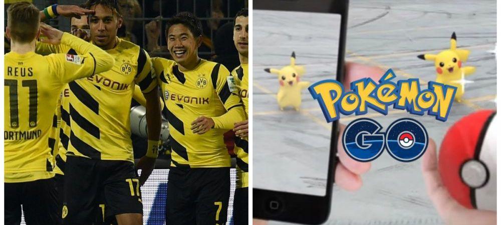 Ultima nebunie virtuala a ajuns si in fotbal.Jucatorii lui Dortmund vaneaza POKEMONI intre antrenamente :)) FOTO