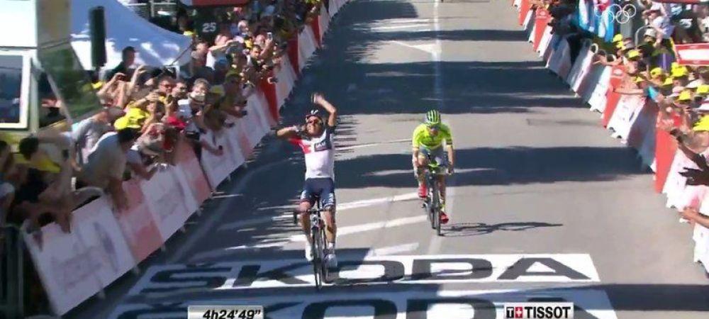 """Etapa """"regina"""" a Turului Frantei, castigata de un columbian! Nu Quintana, ci Pantano s-a impus dupa 7 catarari si un sprint fantastic cu Majka. Froome ramane lider la general"""