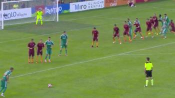 Grozav vrea din nou la nationala! A marcat doua goluri cu AS Roma, in poarta lui Lobont | VIDEO