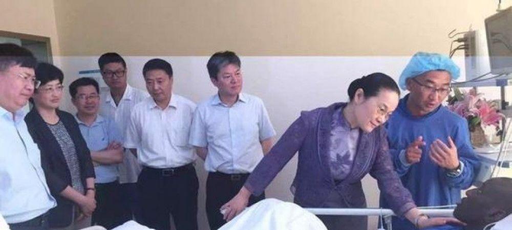 FOTO SOCANT. Cum arata radiografia piciorului lui Demba Ba, dupa accidentarea groaznica suferita in China. Cariera atacantului este in pericol