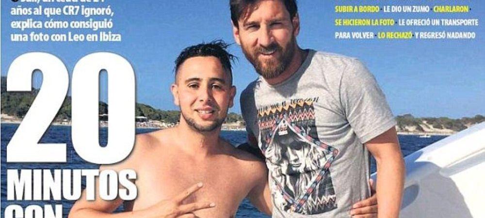 Moment fabulos pe yacht-ul lui Messi! Un fan a inotat UN KILOMETRU ca sa ajunga la starul Barcelonei! Ce a facut Messi cand l-a vazut in apa