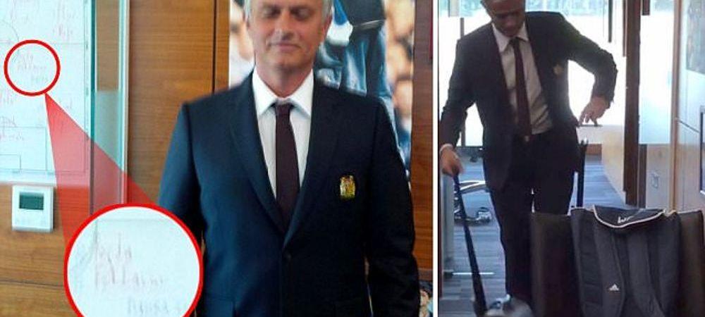 Detaliul din biroul lui Mourinho care anunta urmatorul TRANSFER COLOSAL din fotbal? Ce au surprins in aceasta imagine