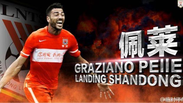 Primul gol marcat in China de atacantul care incaseaza mai mult decat Ibrahimovic. Pelle a inscris la a doua sa aparitie | VIDEO