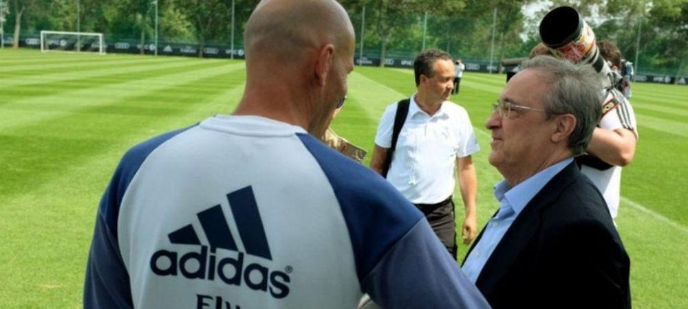 """""""Hai ca i-am pacalit!"""" Dialogul incredibil intre Zidane si Florentino Perez surprins de Marca. Ce vorbeau de Barcelona"""