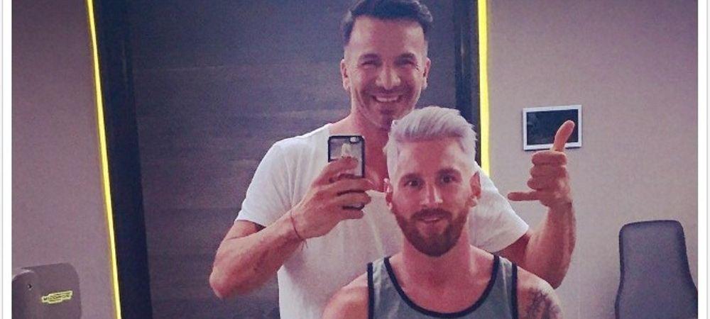 Marturia barbierului care l-a facut BLOND pe Messi. Ce a postat dupa imaginea care a uimit fotbalul