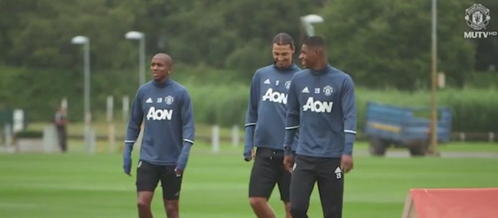 Parca e dintotdeauna acolo! VIDEO: Ce a facut Zlatan la primul antrenament cu Mourinho la Manchester United