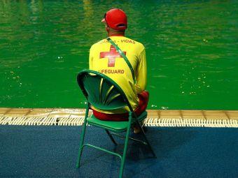 Organizatorii au INCHIS bazinele de la Rio! Sportivii se tem sa nu se imbolnaveasca din cauza apei care si-a schimbat misterios culoarea