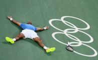 S-a PRABUSIT de fericire si a inceput sa planga! Dupa ce l-a invins pe Djokovic in primul tur, Del Potro l-a eliminat si pe Nadal si va juca finala la Rio cu Murray. FOTO