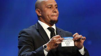 Gestul ciudat al lui Roberto Carlos in timpul tragerii la sorti pentru grupele Champions League! Ce a facut fostul mare jucator