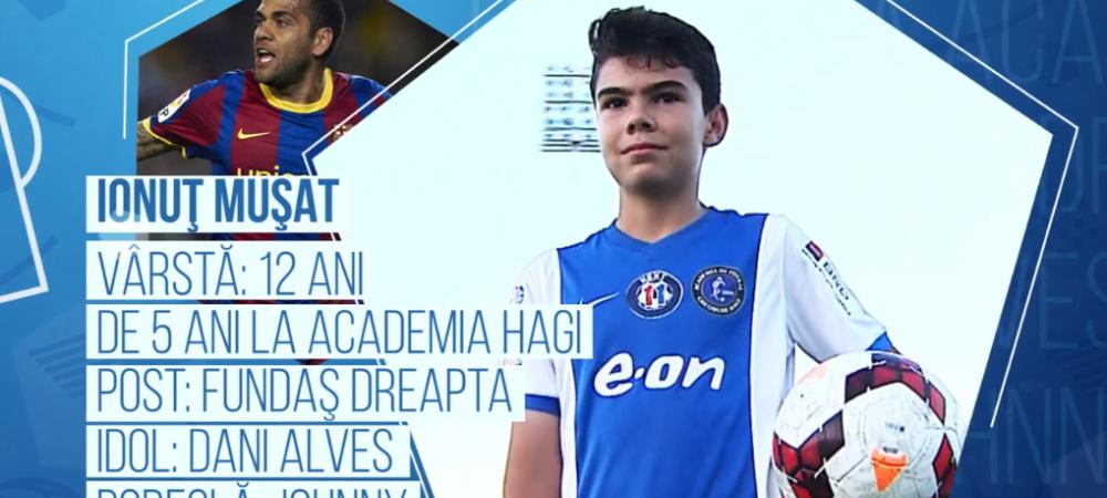Campionii Viitorului | Hagi vrea sa-l propuna in cativa ani pe noul Dani Alves. Pustiul roman care viseaza sa-i calce pe urme brazilianului