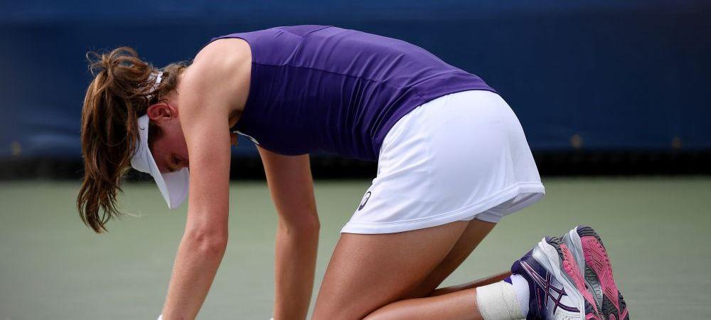 Scene dramatice la US Open. Konta s-a prabusit pe teren respirand cu greu! Ce s-a intamplat in momentele urmatoare