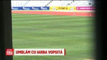 Decizie de ultima ora a organizatorilor! Gazonul de pe Cluj Arena va fi VOPSIT pentru meciul cu Muntenegru. VIDEO
