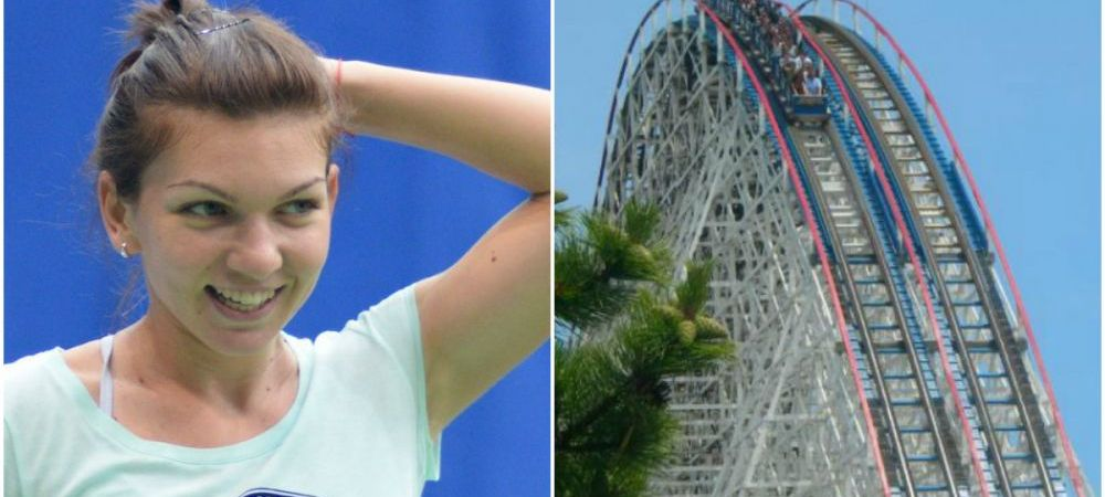 """Aventurile Simonei Halep in America, povestite la US Open: """"M-a pacalit Darren sa ma dau intr-un roller coaster, am crezut ca mor"""". VIDEO"""