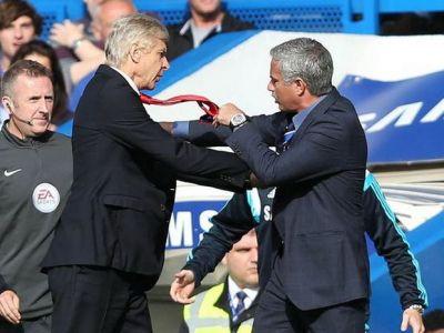 """Scene de clasa a 4-a intre doi colosi din fotbal! Faza incredibila la conferinta UEFA: ce a raspuns Wenger dupa ce Mourinho l-a intrebat: """"Nu te supara, e liber scaunul de langa tine?"""" :)"""