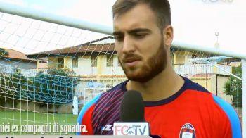 Cojocaru a facut primele antrenamente la Crotone si vrea sa devina titular in Serie A. Ce a spus la primul sau interviu in Italia