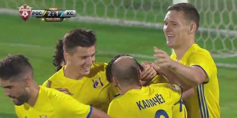 Golul victoriei la primul meci jucat. Prepelita a debutat excelent la Rostov, iar marti va juca impotriva lui Bayern in UCL   VIDEO