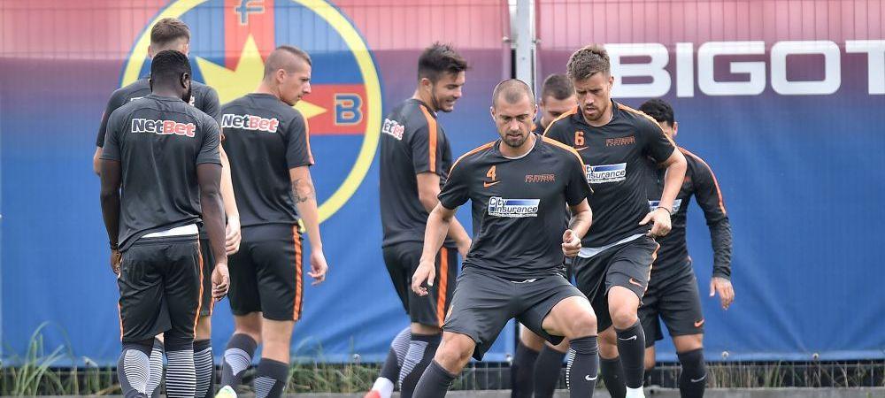 Trei jucatori au revenit la antrenamentele Stelei inaintea derbyului cu Astra: accidentat la nationala de tineret, Tanase intra maine! Cum poate arata echipa
