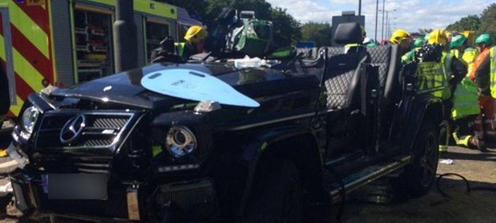 FOTO HORROR! Un jucator din Premier League, implicat intr-un accident GROAZNIC! A fost dus de urgenta cu elicopterul la spital